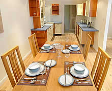 Kitchen/ Dining from Brocks Cottage